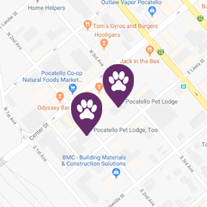 Pocatello Pet Lodge footer map